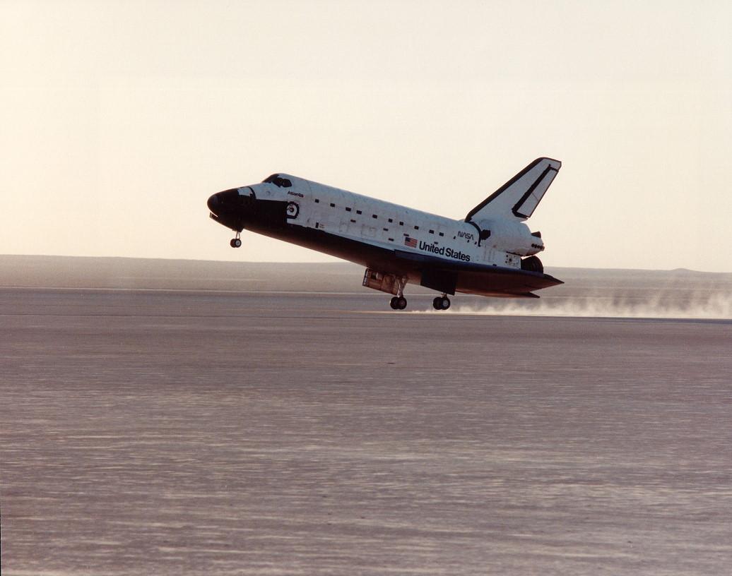 Image result for sts-37 landing