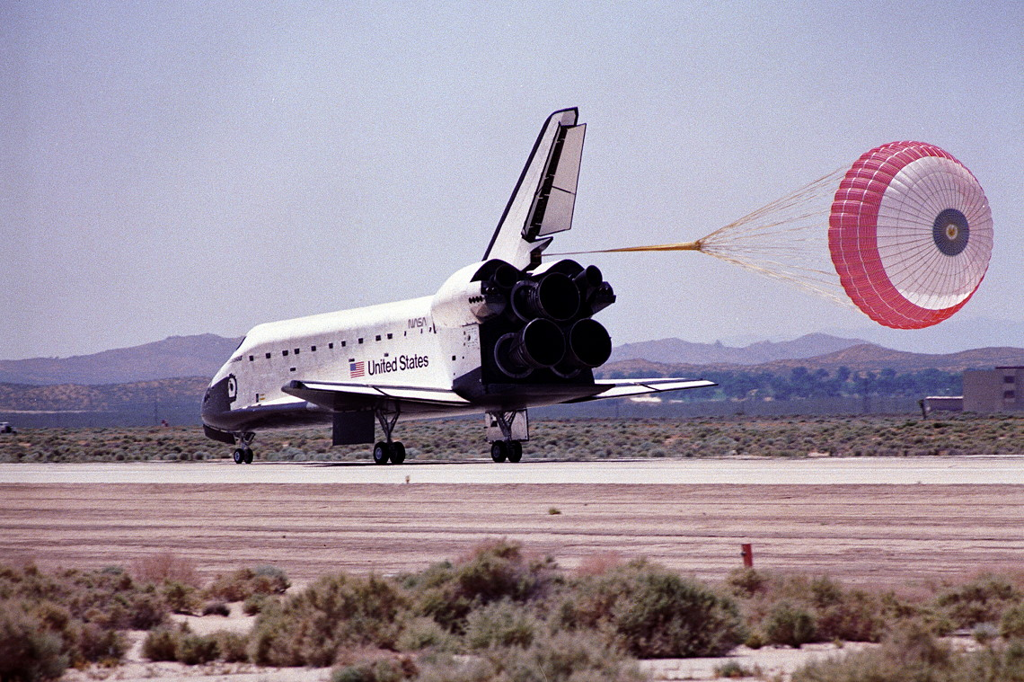 Image result for sts-49 landing