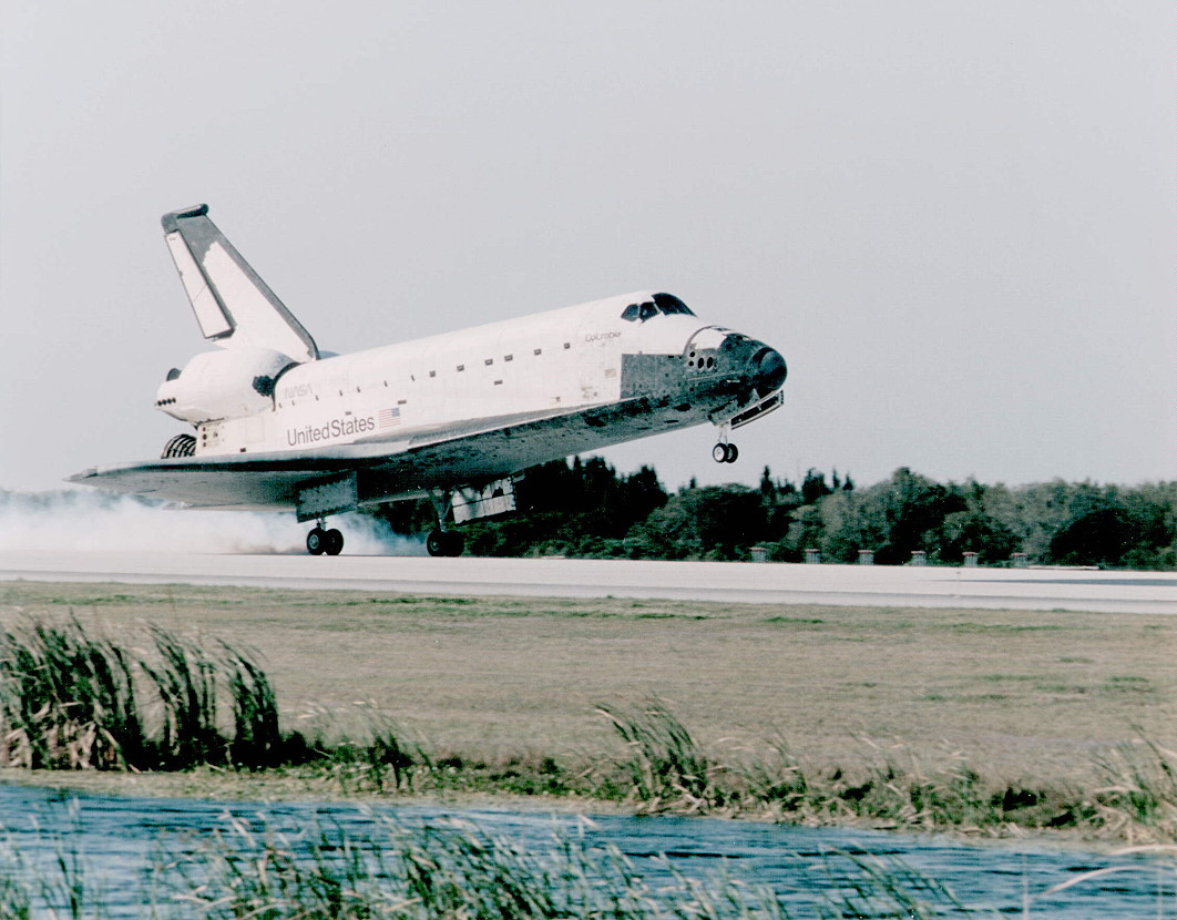Image result for sts-75 landing