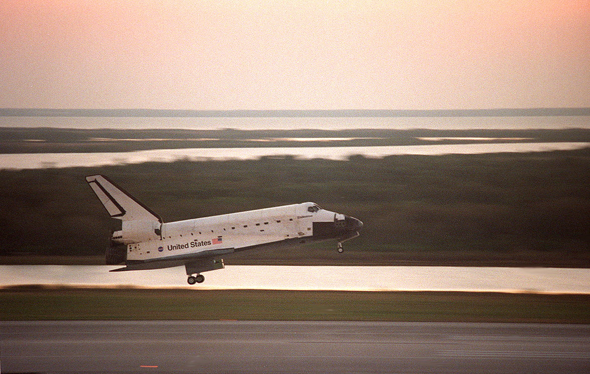 Image result for sts-99 landing