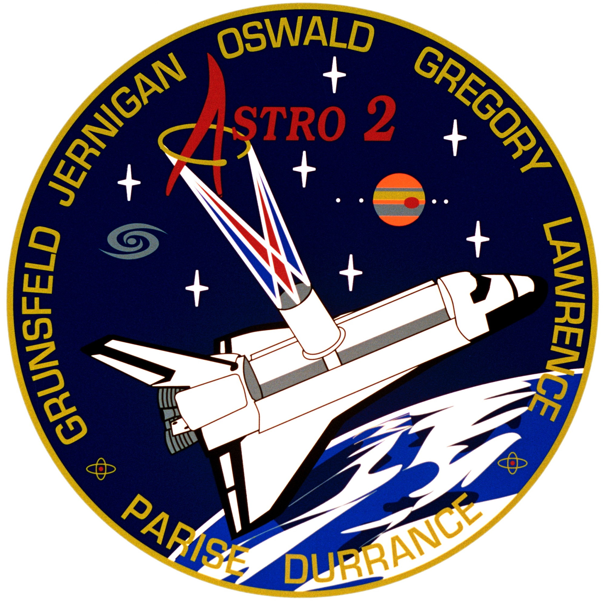 Mission Patches On Mission 4 To The International Space: Spaceflight Mission Report: STS-67