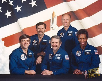 Photo of crew of Challenger STS-8